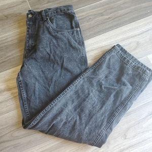 Straight black jeans